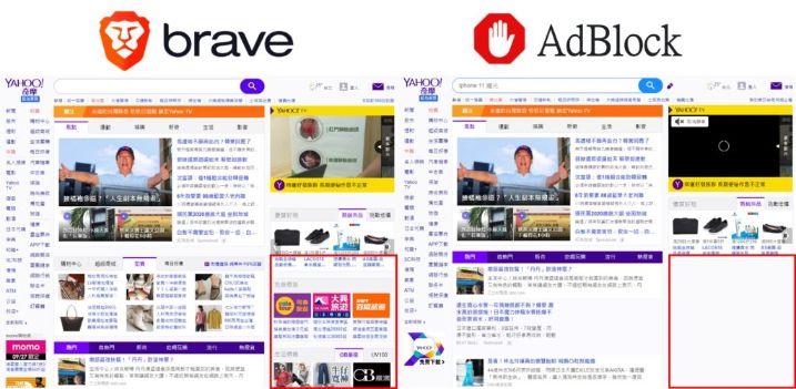 brave與adblock比較